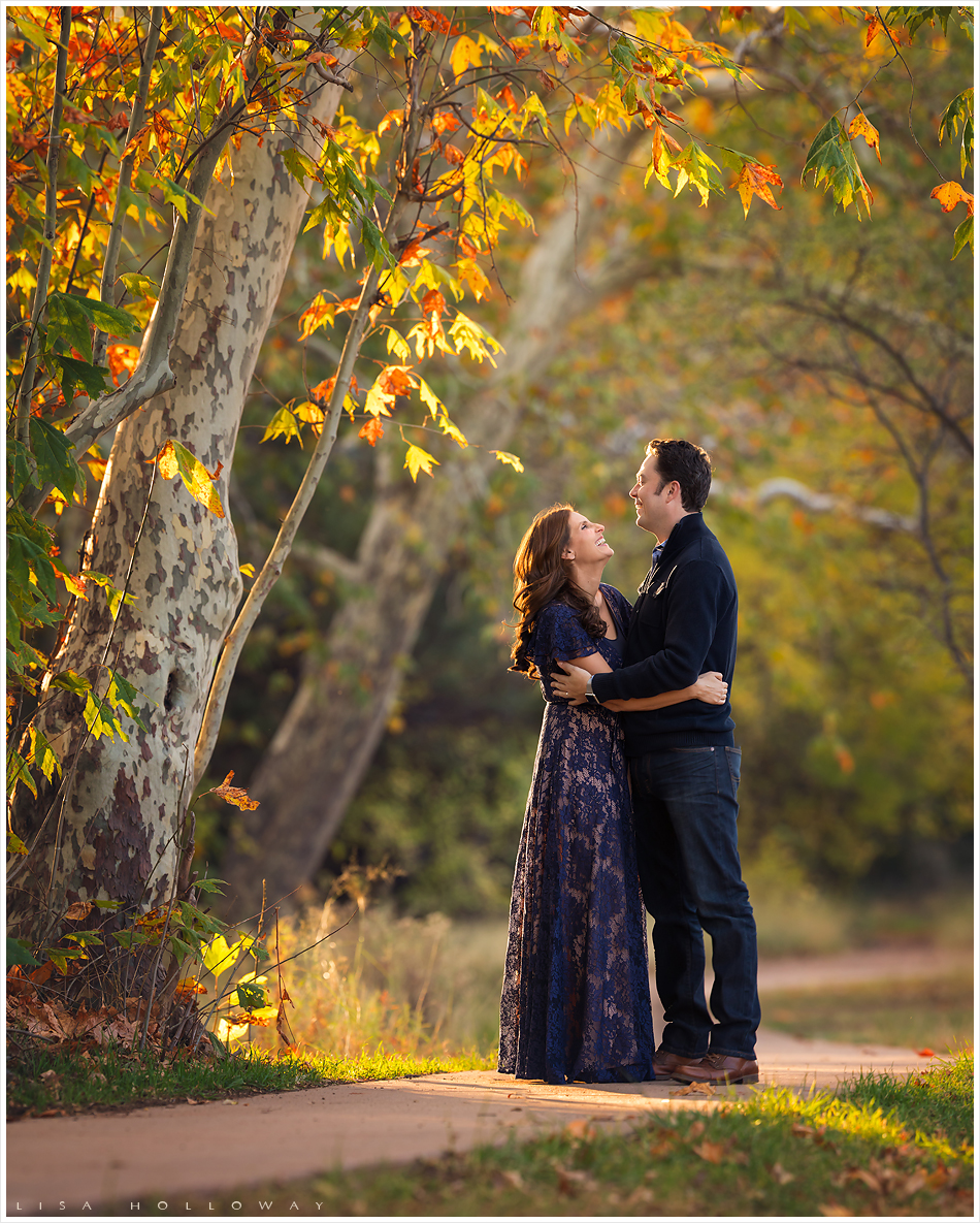 Beautiful family has their portrait taken outdoors in the fall colors. LJHolloway Photography is a Las Vegas Family Photographer.